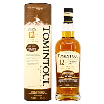 Tomintoul whisky 12 yr Oloroso